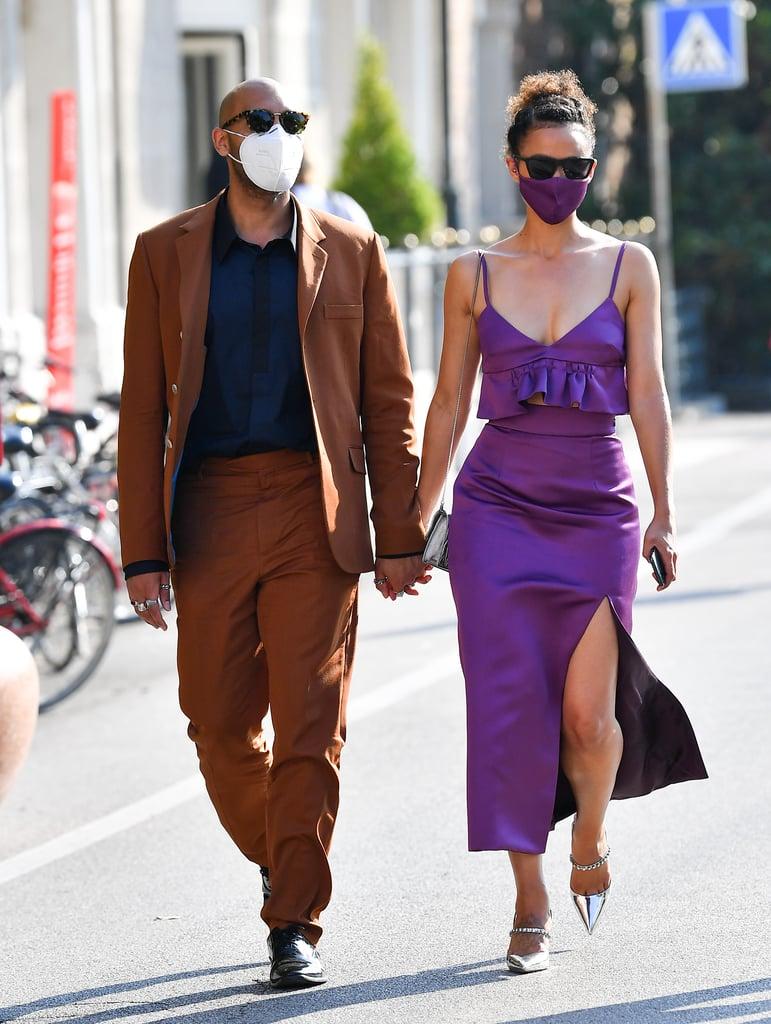 Nathalie Emmanuel's Purple Outfit at Venice Film Festival