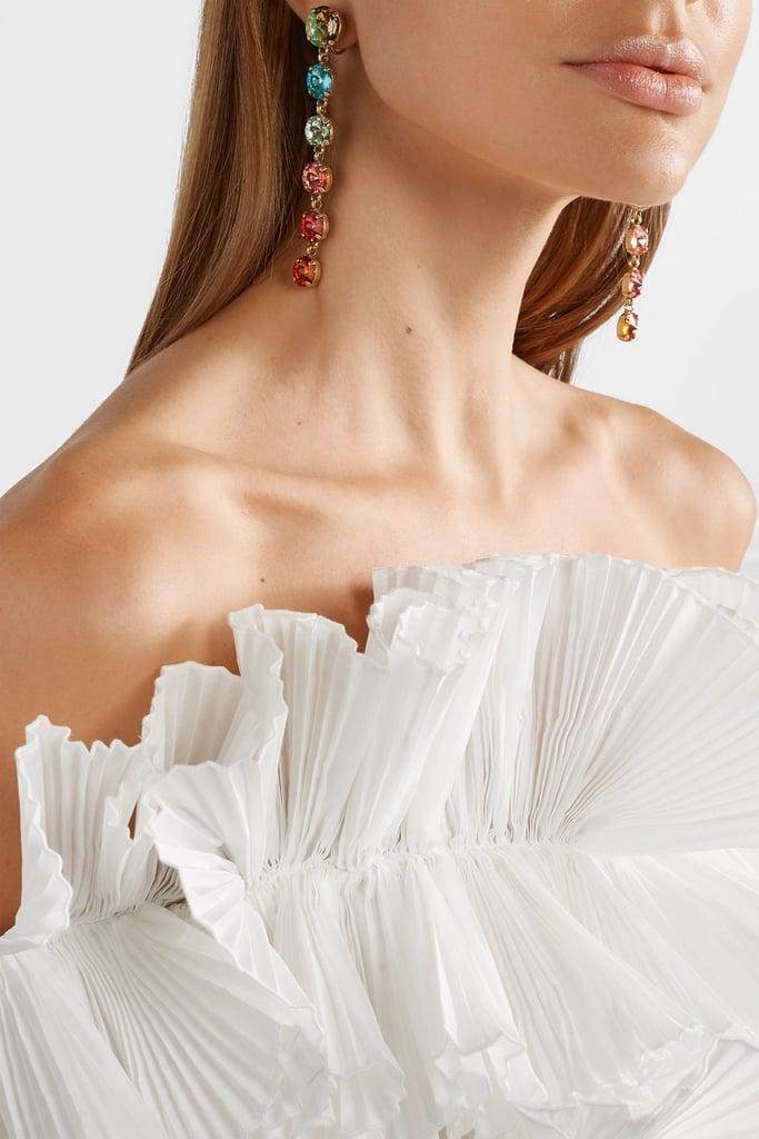 My Pick: Roxanne Assoulin Technicolor Gold-Tone Swarovski Crystal Earrings