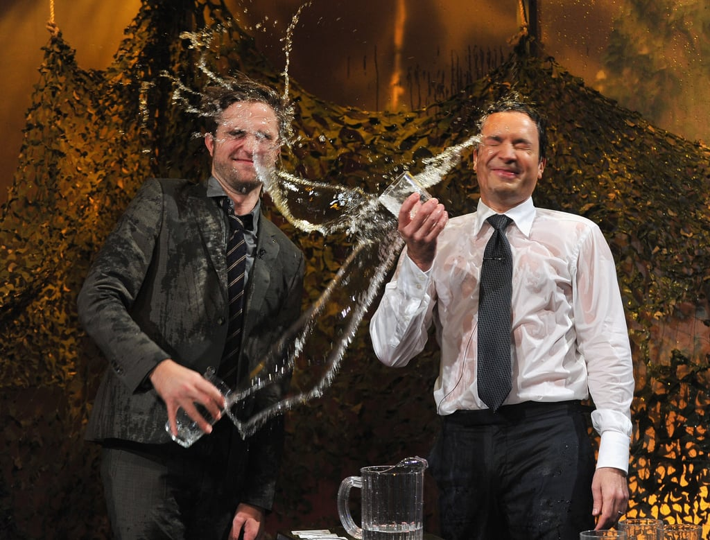 Robert Pattinson and Jimmy Fallon played a water game on Late Night With Jimmy Fallon.