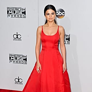 Selena Gomez Red Bridal Shower Dress January 2019