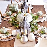 Fallen leaves make for beautiful and affordable table toppers