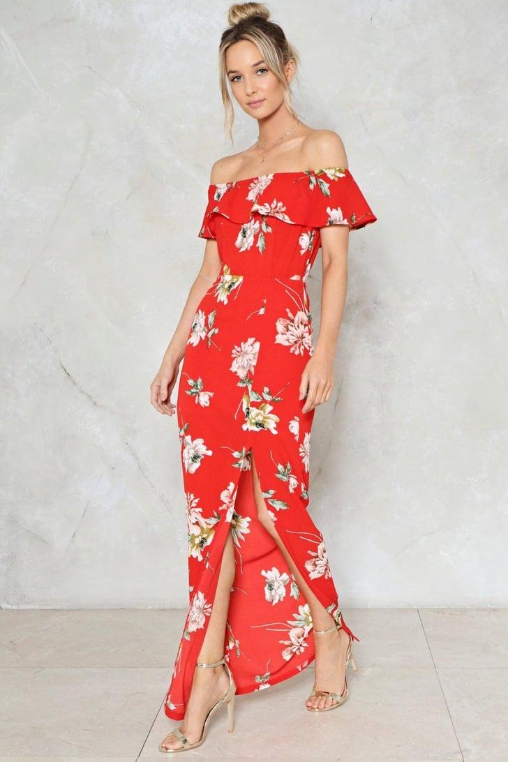 Nasty Gal Like A Flower Floral Dress Long Dresses