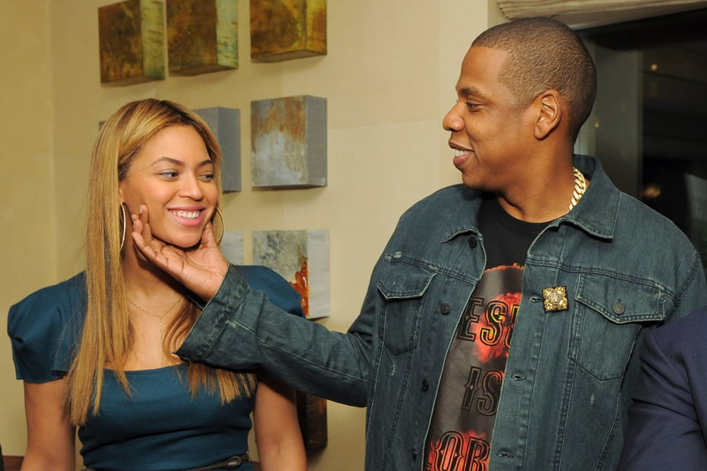 Beyoncé and Jay Z showed PDA at a May 2012 party in NYC.