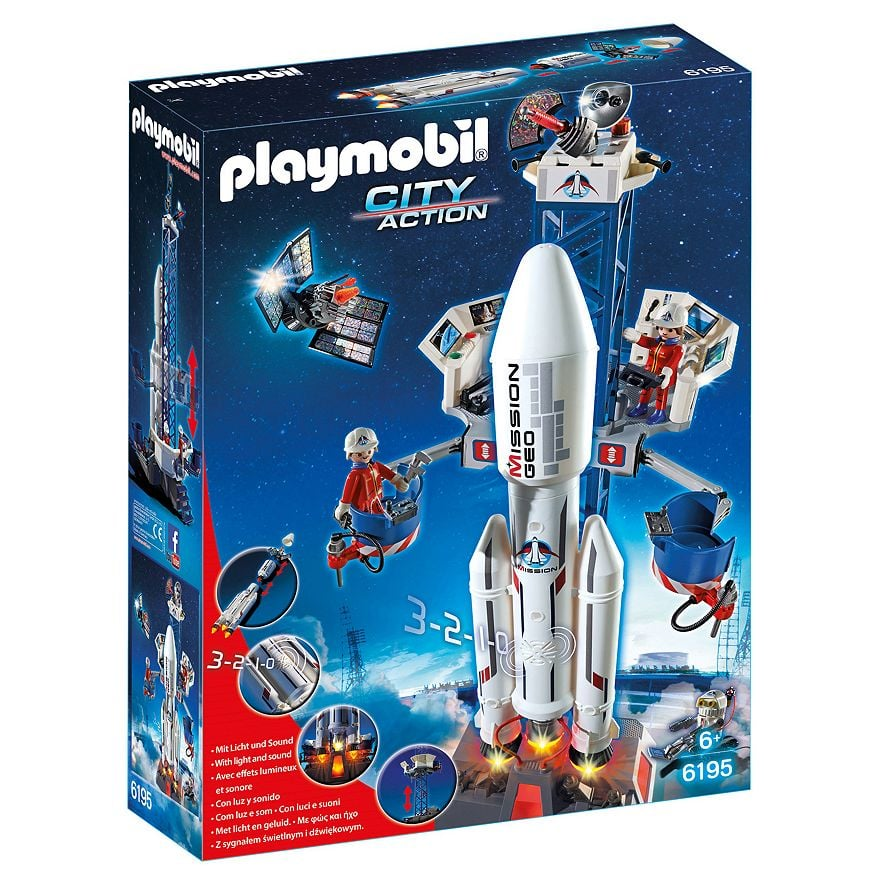 For 5-Year-Olds: Playmobil City Action Space Rocket With Launch Site