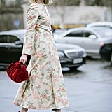 Style your floral dress with printed heels.