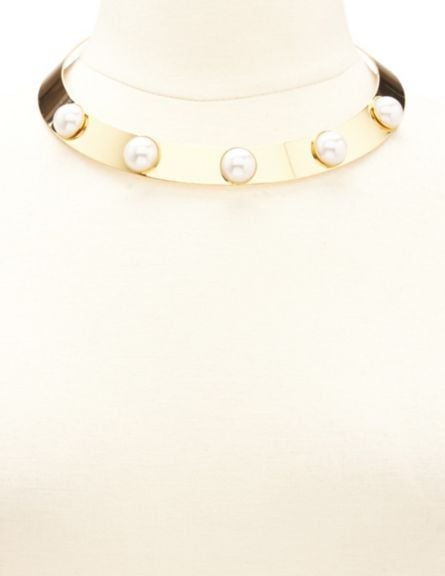 Charlotte Russe Pearl-Embellished Choker