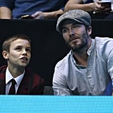 David and Romeo Beckham at the ATP World Tour Finals