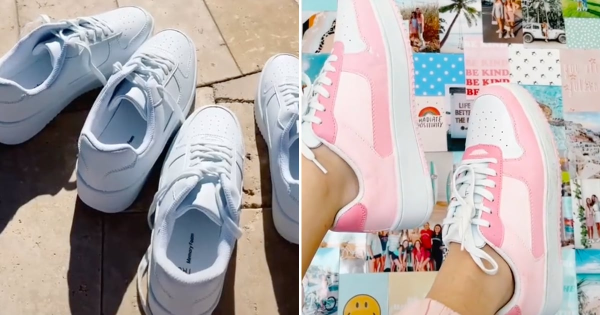 TikTokers Are Transforming These $15 Walmart Sneakers With Paint, and We Love the Results.jpg