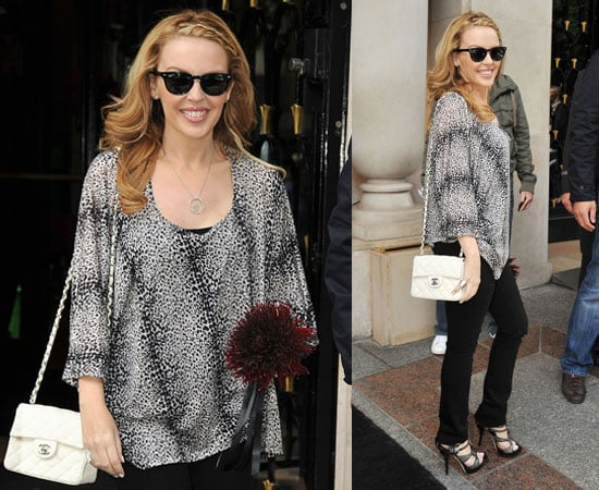 Pictures of Kylie Minogue in Paris as She Reveals She Would Tutor Contestants on The X Factor US Version 2010-06-21 06:07:00
