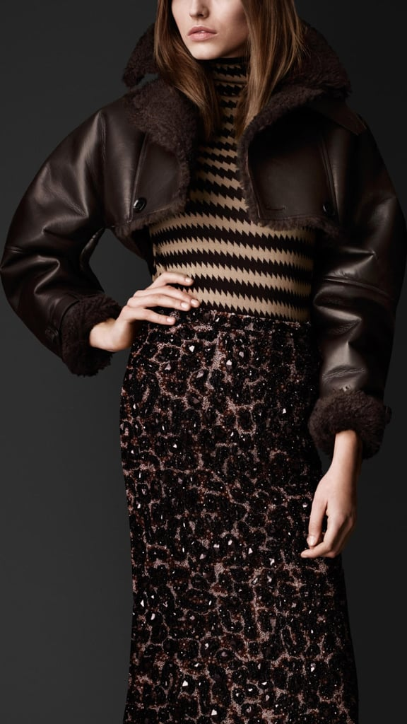 As if a rich shearling could get any more covetable, Burberry showed this cropped version ($5,500). We're obsessed.