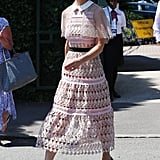 Pippa Middleton Wore a Blush-Hued Self-Portrait Dress to a Wimbledon Match