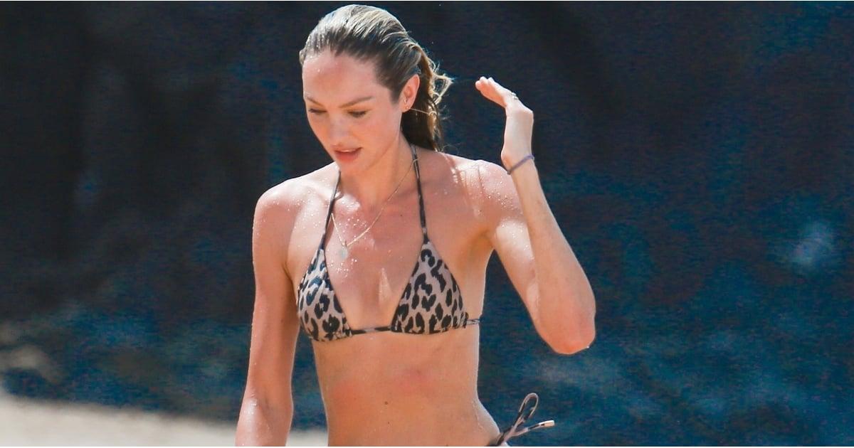 Candice Swanepoel Leopard Bikini