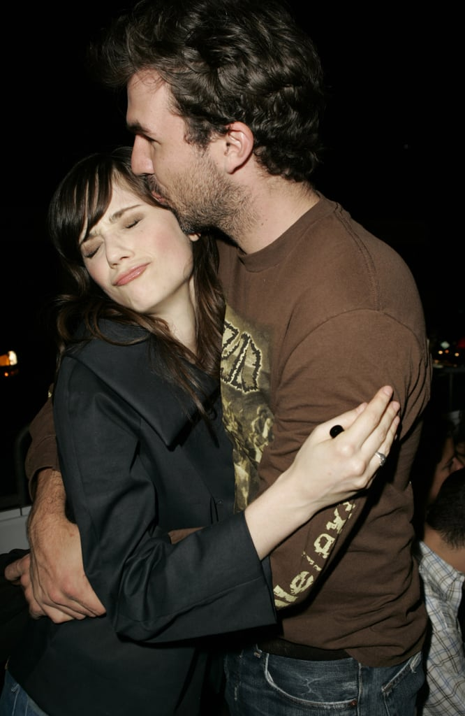 Zooey Deschanel got a kiss on the head from pal Paul Schneider during a party thrown during the 2005 festival.