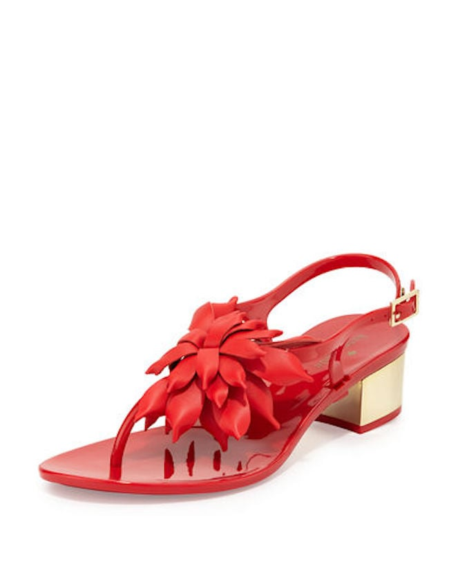 Kate Spade Davina Flower Jelly Thong Sandals