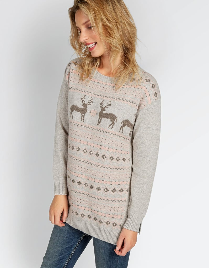 Festive Deer Christmas Sweater ($58)