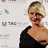 Cameron Diaz posed wearing a Tag Heuer watch.