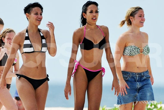Photos of Sugababes on Barbados Beach in Bikinis