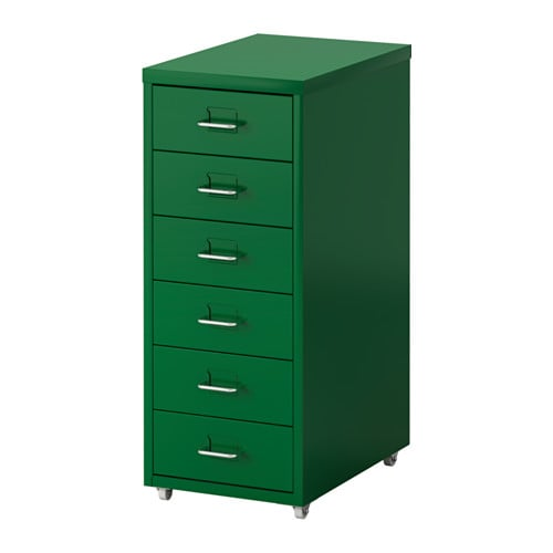 This sturdy storage ($99) in an of-the-moment green is perfect for office organisation.