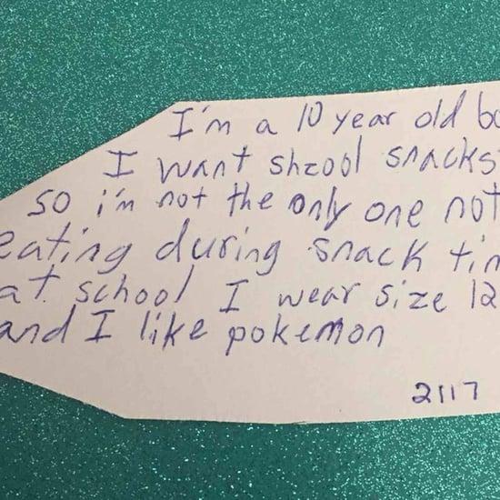Little Boy Asks For Snacks For Christmas