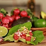 Watermelon, Radish, and Avocado Lettuce Wraps