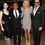 Gwyneth was surrounded by fashionable friends at the LA premiere of Valentino: The Last Emperor in April 2009 — she arrived alongside Anne Hathaway, Tom Ford, and Valentino Garavani himself.