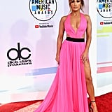 Jennifer Lopez Wearing Georges Chakra Couture to the 2018 American Music Awards