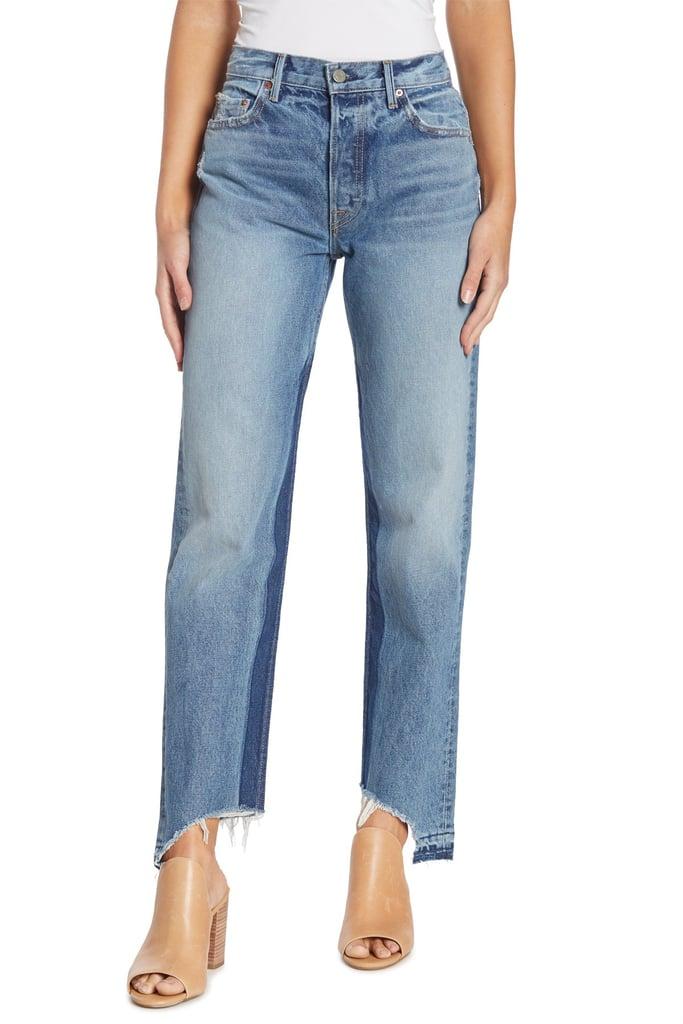 Grlfrnd Helena Contrast Asymmetrical Jeans
