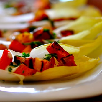 Endive Spears With Sweet Potato and Bacon