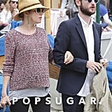 Sienna Miller and Tom Sturridge were arm-in-arm during their vacation in Italy.