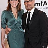 Felicity Blunt and Stanley Tucci attended the 2012 amfAR gala in NYC.