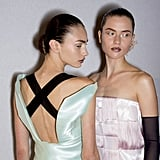 Dior has started a trend with its bedazzled makeup, and at this year's Haute Couture show, the models wore brown glittered lips.
