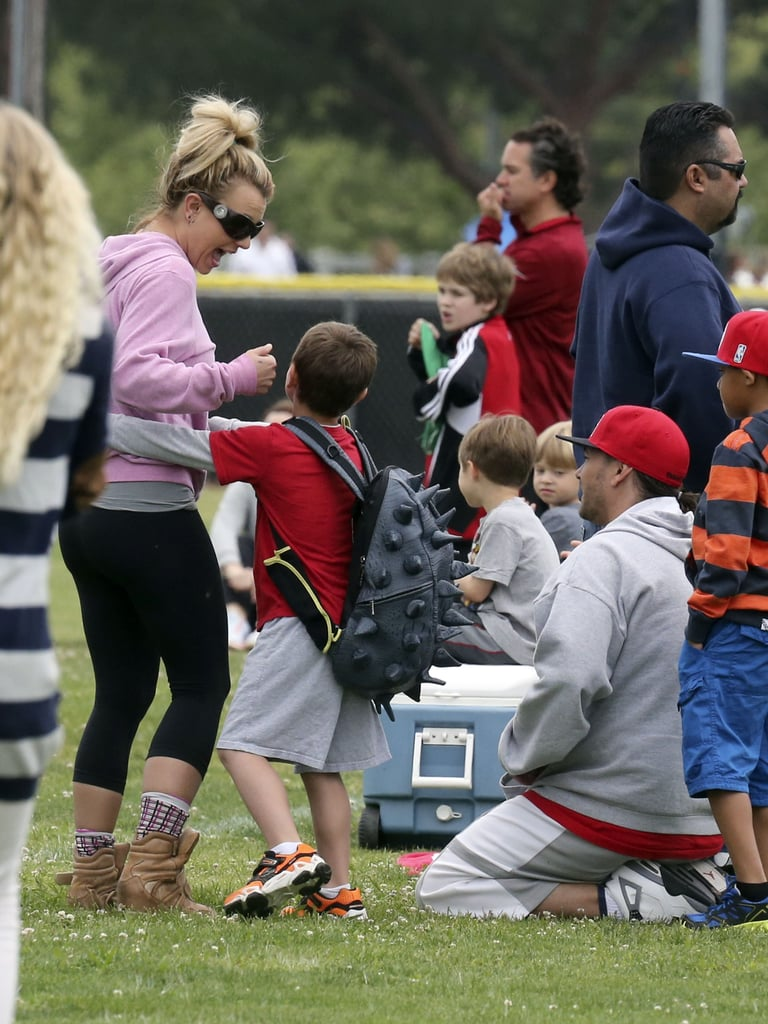 Britney Spears Splits Her Weekend Between David and Her Boys
