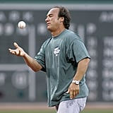 Jim Belushi threw out the first pitch before a game between the Red Sox and the Cleveland Indians in August 2006.