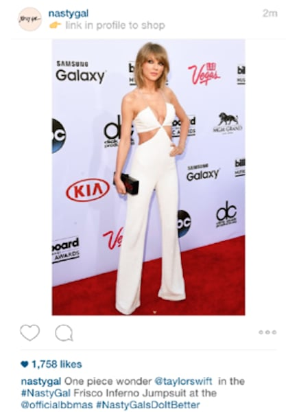 But Nasty Gal though it was its own piece, Instagramming a photo of Taylor and hashtagging #NastyGalsDoItBetter.