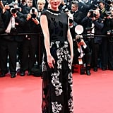 Kirsten Dunst attended the Inside Llewyn Davis premiere in a romantic, embellished floor-length gown and Chanel fine jewellery.