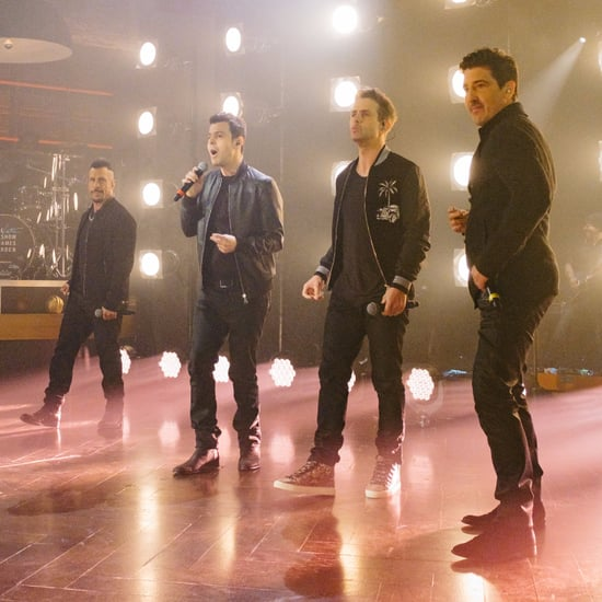 "New Kids on the Block Sing ""One More Night"" Late Late Show"