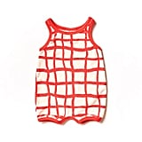 Red Grid Romper