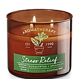 Stress Relief Eucalyptus and Spearmint 3-Wick Candle ($22)