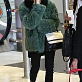 Ashley Olsen headed out of the airport.