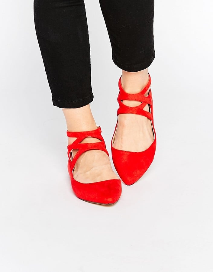 London Rebel Cross Strap Flat Shoes ($72)
