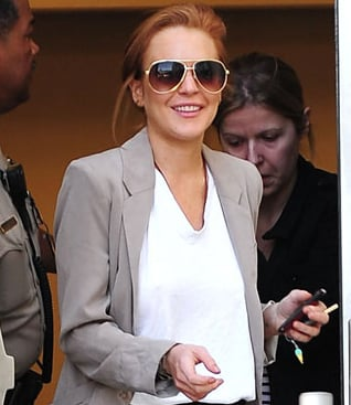 Picture of Lindsay Lohan Admitted Failing Drugs Test Today