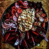 Grilled Chicken, Beet, and Cherry Salad With Honey Balsamic Dressing