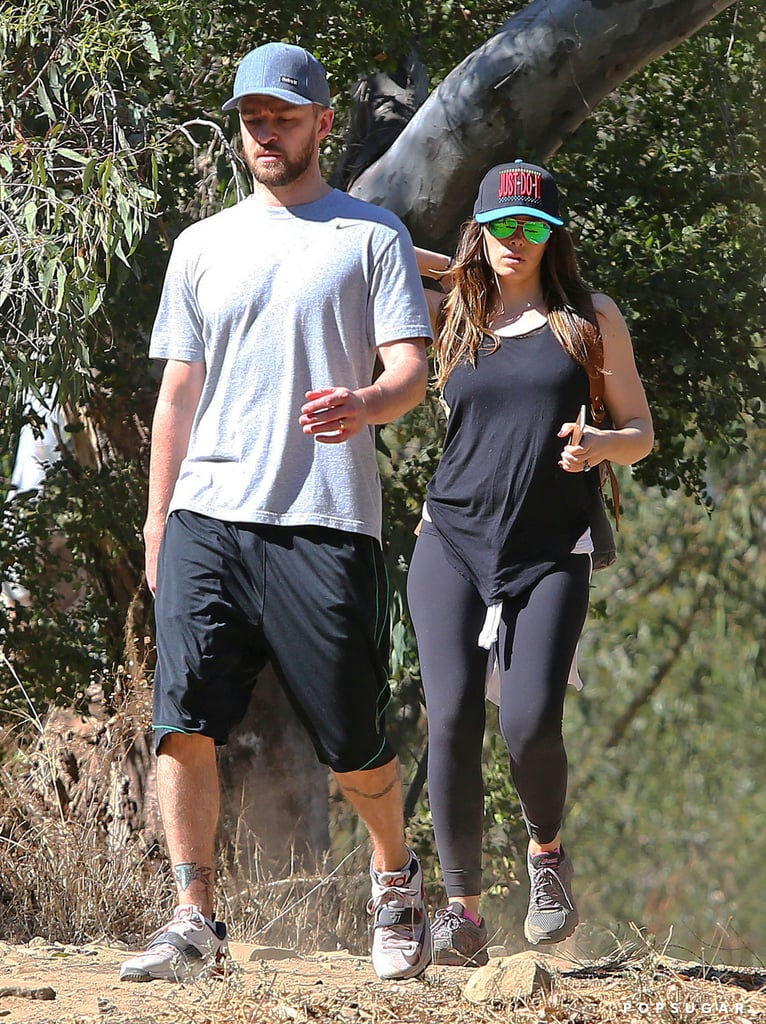 Justin Timberlake and Jessica Biel on a Hike in LA
