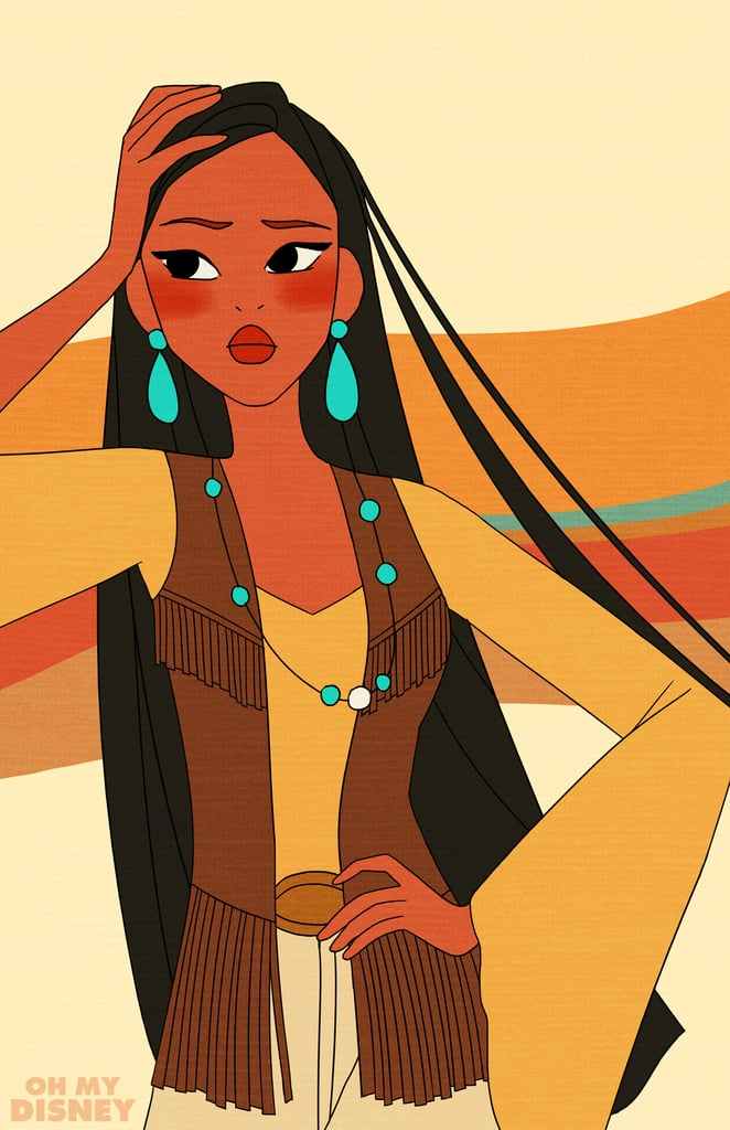 This Is How the Disney Princesses Would Have Dressed If They'd Lived in the '70s