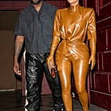 Kim Kardashian West and Kanye at the Sunday Service at Paris Fashion Week Fall 2020
