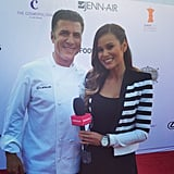 Chef Michael Chiarello posed with POPSUGAR Food's Brandi Milloy and declared it his favorite interview of the night!  Source: Instagram user chefchiarello