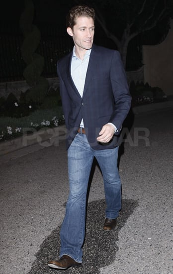 Pictures of Matthew Morrison Leaving Elton John's Benefit Concert in Hollywood