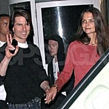 Tom Cruise and Katie Holmes on a date.