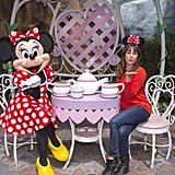 Lea Michele and Minnie Mouse had a tea party in May 2015.