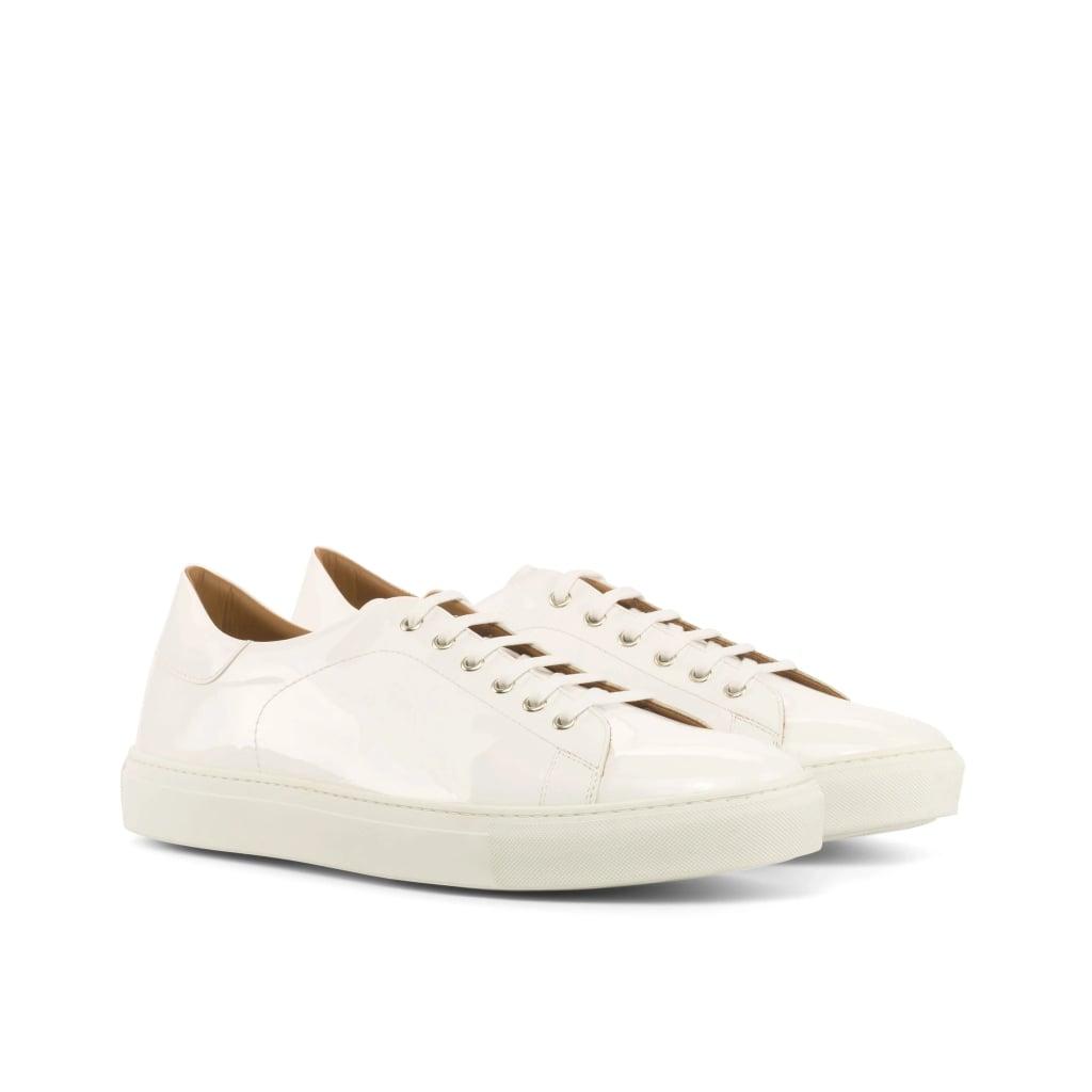 Mandeaux Marcus White Patent Sneaker